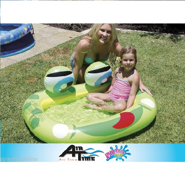 Airtime baby pool frog inflatable kids summer pool fun for Baby garden pool