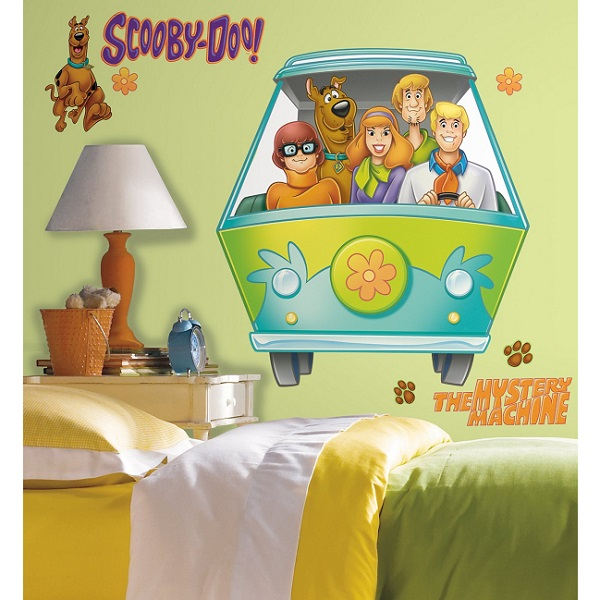 scooby doo mystery van giant wall stickers by roommates marvel heroes ultimate spiderman boys kids giant removable