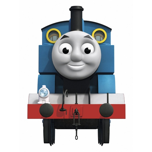 thomas the tank engine giant wall sticker with hooks. Black Bedroom Furniture Sets. Home Design Ideas