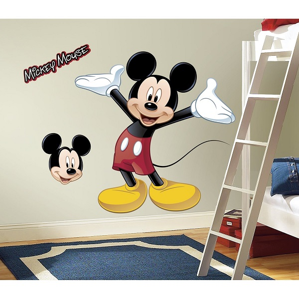 mickey mouse peel and stick wall stickers. Black Bedroom Furniture Sets. Home Design Ideas