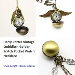 Harry Potter Quidditch Golden Pocket Watch