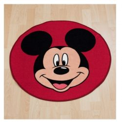 .Mickey Mouse Shaped Floor Rug
