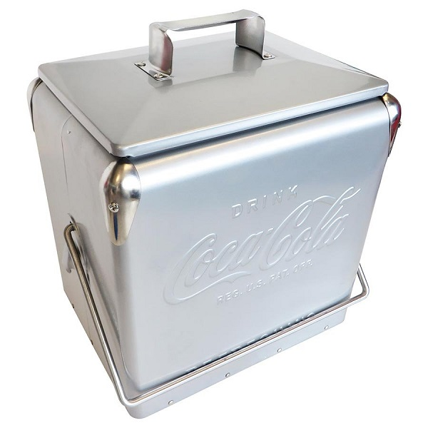coca cola coke silver metal ice cool cooler box bottle opener bbq perth ebay. Black Bedroom Furniture Sets. Home Design Ideas