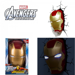 3D Marvel Iron Man Mask Wall Light Avengers