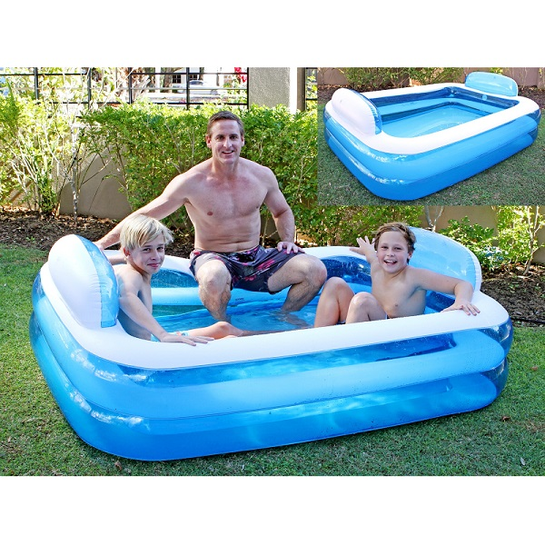 Leisure Family Pool With Pillows By Airtime Large Pool For