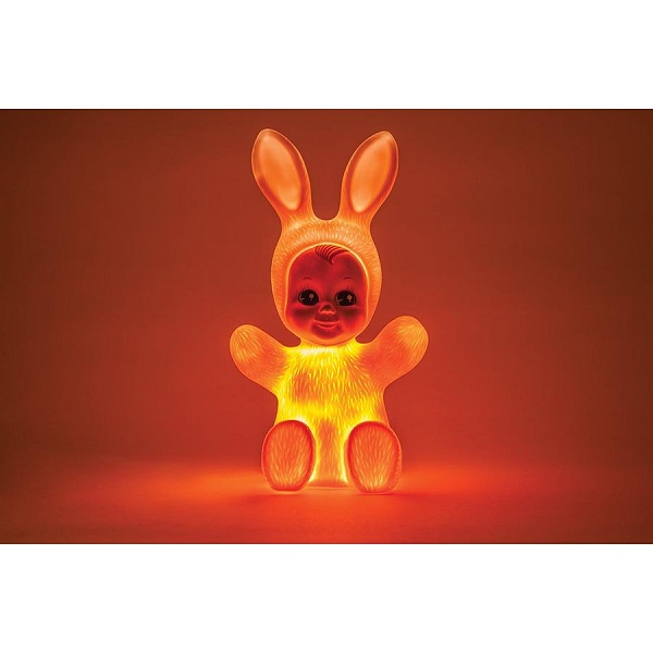 goodnight light bunny baby rabbit soft pink led lamp by. Black Bedroom Furniture Sets. Home Design Ideas