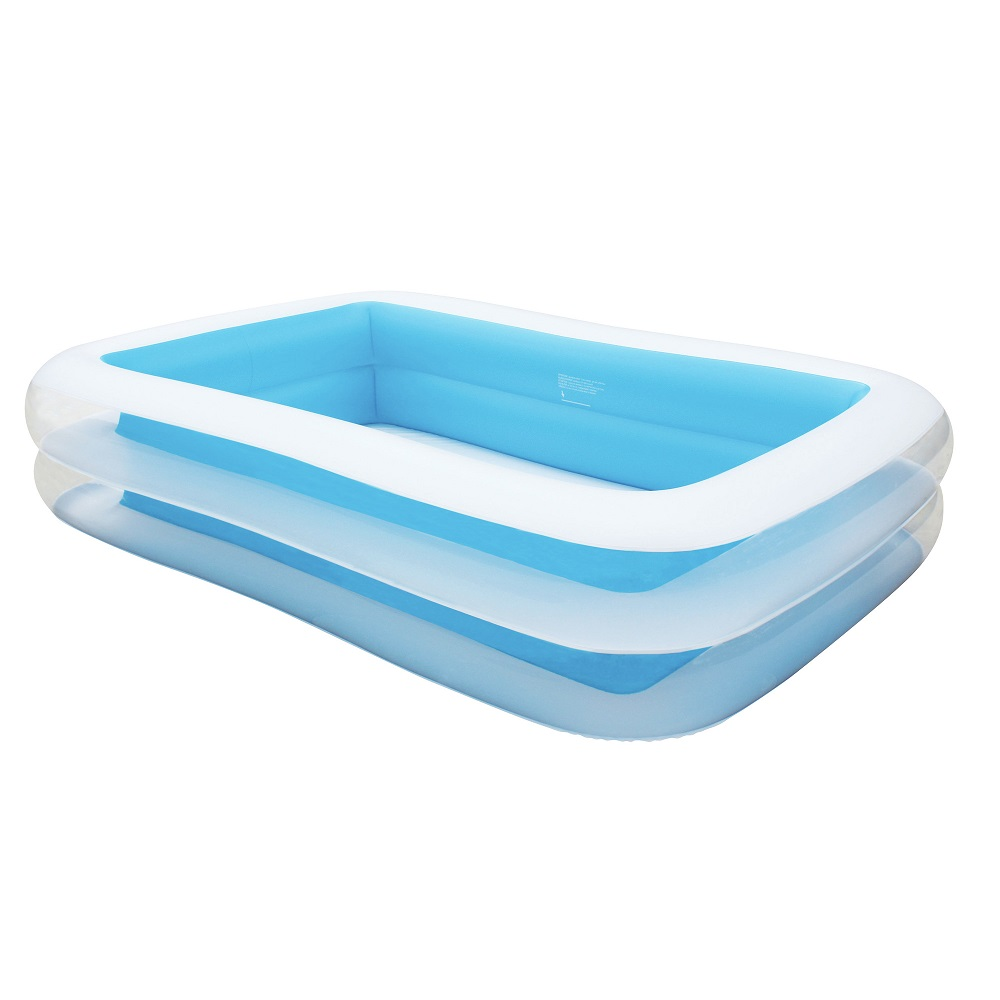 Rectangle Inflatable Pool airtime inflatable rectangular family kids pool blue 262x175x51cm