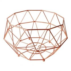 Geometric Copper Fruit Basket Medium