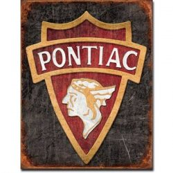 1930 Pontiac Logo Metal Tin Sign