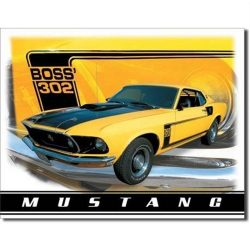 Ford Mustang Boss 302 Metal Tin Sign