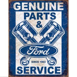Ford Service Pistons Metal Tin Sign