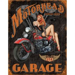 Legends Motorhead Garage Metal Tin Sign