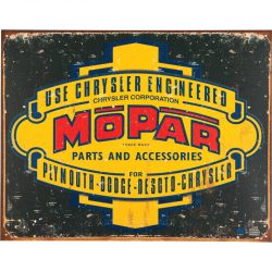 Mopar Logo 37-47 Metal Tin Sign