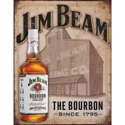 Jim Beam Still House Metal Tin Sign
