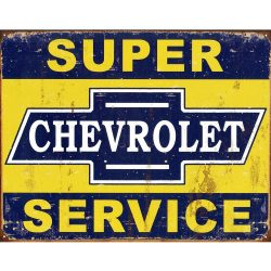 Super Chevy Service Metal Tin Sign