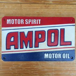 Ampol Motor Spirit Motor Oil 37cm Cast Iron Sign