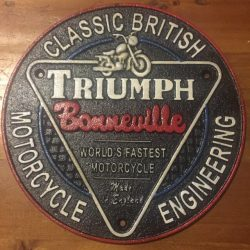 Triumph Cast Iron Sign 1
