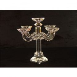 Crystal glass 5 head candle holder