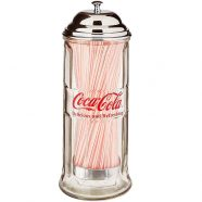 Coke Glass Straw Dispenser