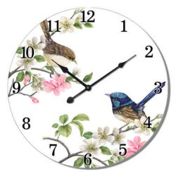 Blue Wren Wall Clock