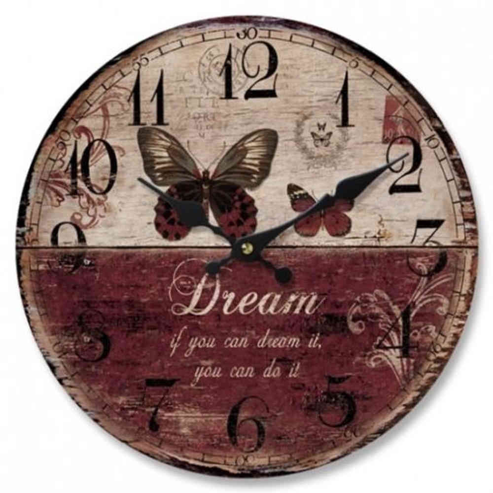 Butterfly Wall Clock Dream 28.8cm