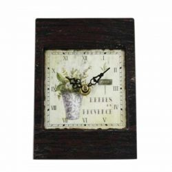 Metal Lavender Table Clock
