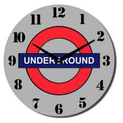 London Underground Glass Wall Clock