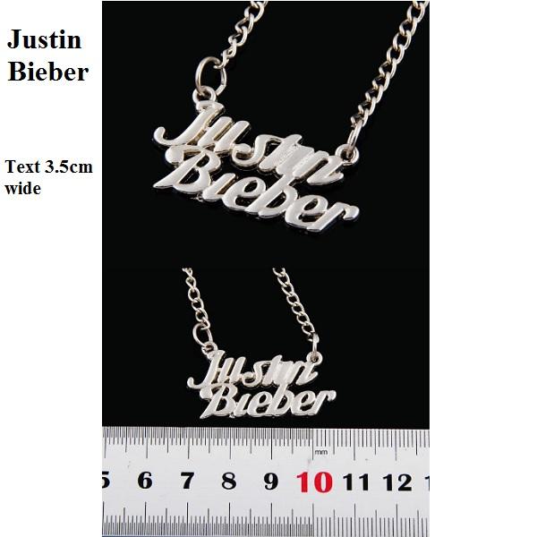 Justin Bieber Pendant Necklace