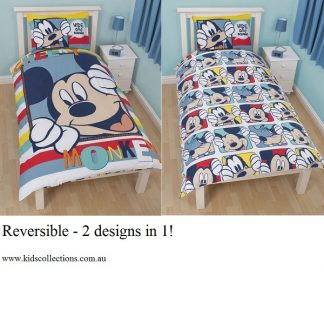 Mickey Mouse Play Single Reversible Quilt