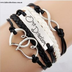 One Direction Infinity Charm Black and White