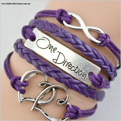 One Direction Jewellery Infinity Purple