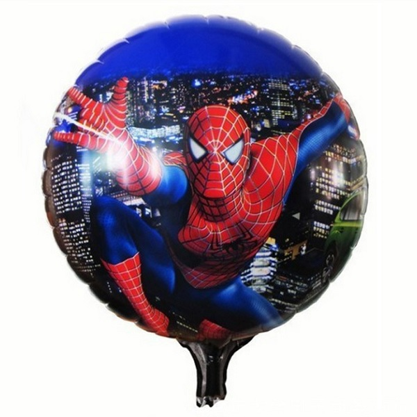 Spider Man Round Shaped Foil Balloons