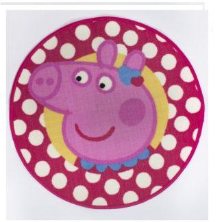 Peppa Pig Head Oink Adorable Rug Heart Shaped Rug