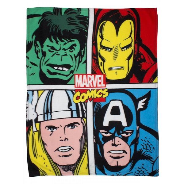 Marvel Avengers Comics Strike Fleece Blanket Kids