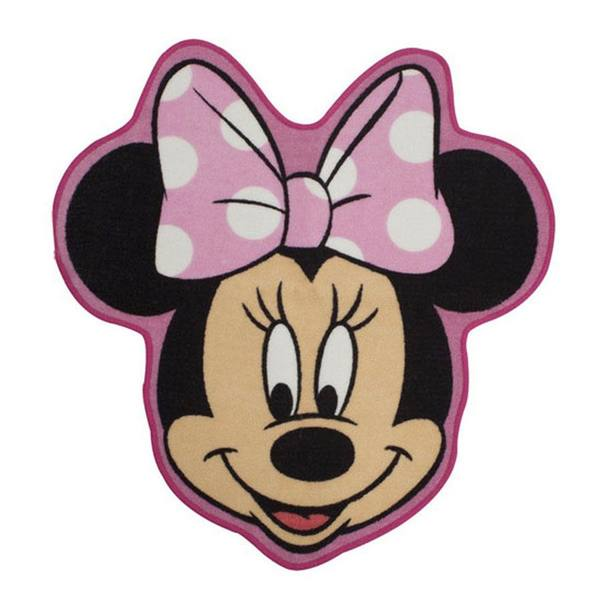 Minnie Mouse Makeover Shaped Floor Rug Kids Bedroom Decor