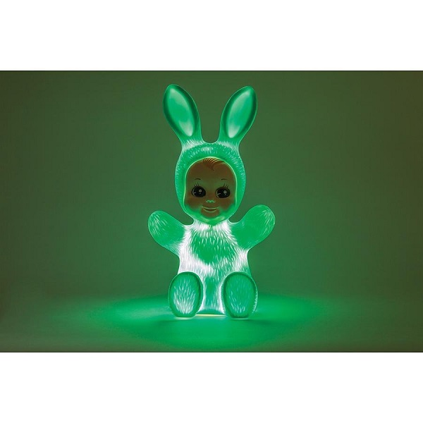 goodnight light bunny baby rabbit soft blue led lamp by lapin and me