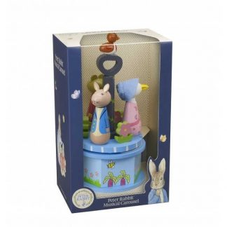 Peter Rabbit Wooden Musical Carousel