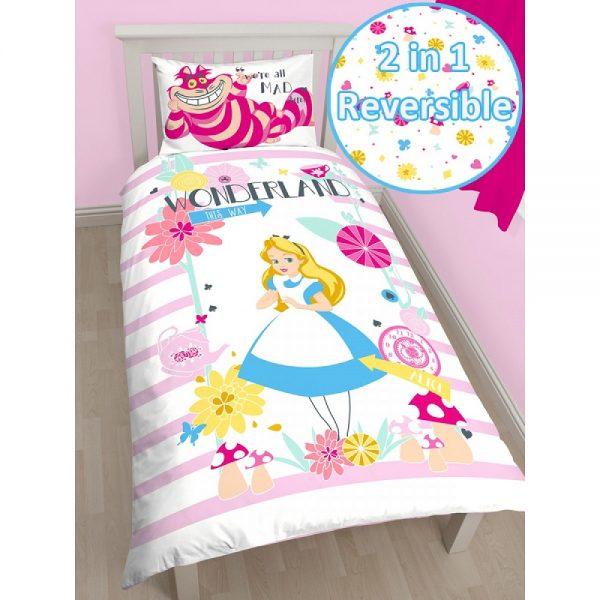 Alice in Wonderland Curious Single Quilt