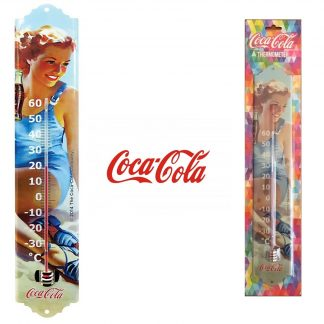 Coca Cola Thermometer Pinup Blue