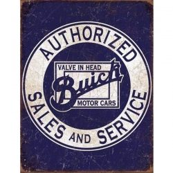 Buick - Valve in Head Metal Tin Sign