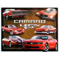 Chevy Camaro 45th Anniversary Metal Tin Sign