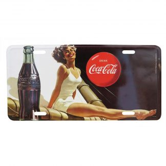 Coke Metal Tin Plaque Pinup