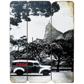 Coke Wood Wall Plaque Landscape Rio