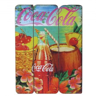 Coke Wood Wall Plaque Tropical