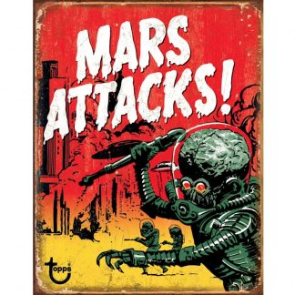 Mars Attacks Metal Tin Sign