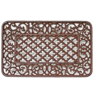 Cast Iron Rectangle Victorian Doormat