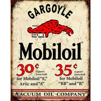 Mobil Gargoyle Metal Tin Sign
