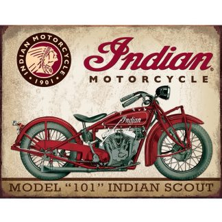 Indian Scout Motocycle Metal Tin Sign