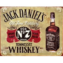 Jack Daniels Hand Made Metal Tin Sign