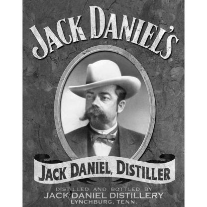 Jack Daniels Portrait Metal Tin Sign